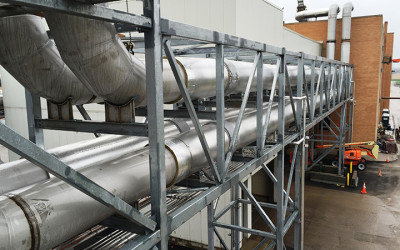 Multiple Hearth Incineration_Flue Gas duct assembly